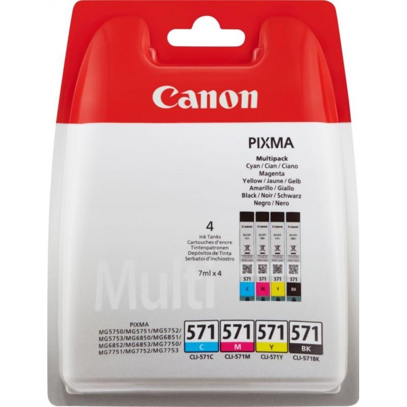 Canon CLI-571 Inktcartridge - Combipack - Zwart, cyaan, magenta, geel - image #1