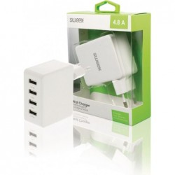 Sweex 4-poorts USB oplader 4,8A - Wit - image #3