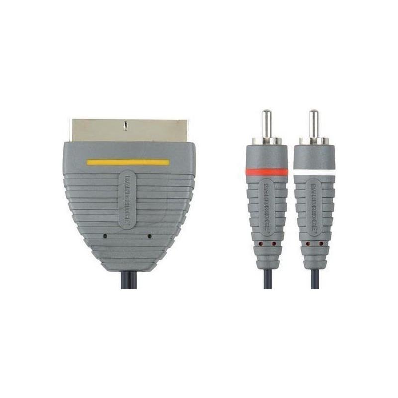 Bandridge Scart kabel naar 2 x RCA - 2 Meter - 40 stuks - image #1