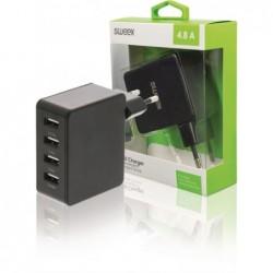 Sweex 4-poorts USB oplader 4,8A - Zwart - image #3