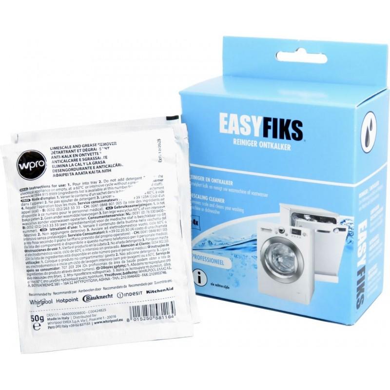 Easyfiks Wasmachine en Vaatwasser onderhoudsmiddel - Ontkalker en Reiniger - 4 stuks - image #1