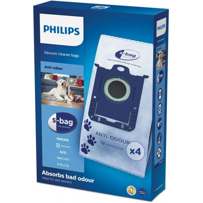 Philips S-Bag FC8023 - Electrolux E203 - Stofzuigerzakken - Anti Geur - 4 stuks - image #1