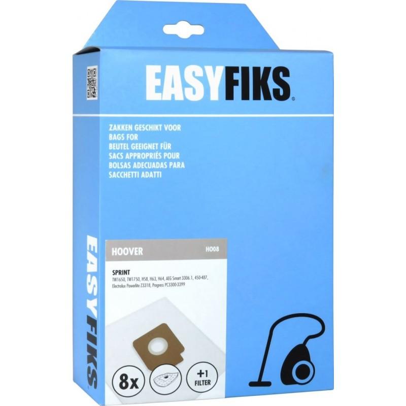 Easyfiks H008 - Stofzuigerzakken - Geschikt voor Hoover Sprint, Flash - 8 stuks - image #1