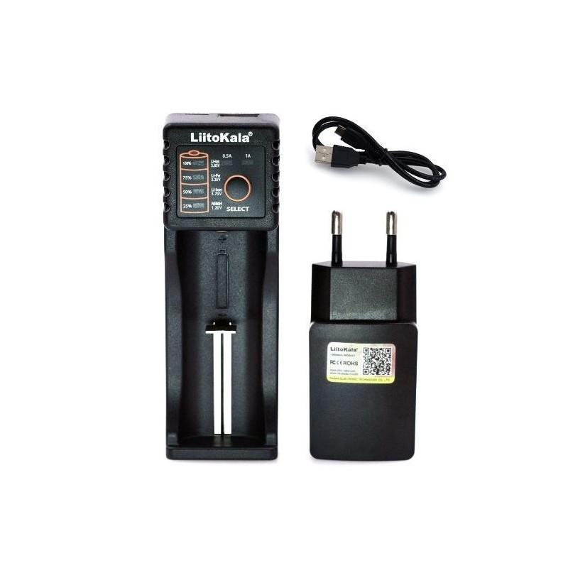 LiitoKala Enkelvoudige Oplader voor 3.6V & 37V Li-ion Batterijen - image #1