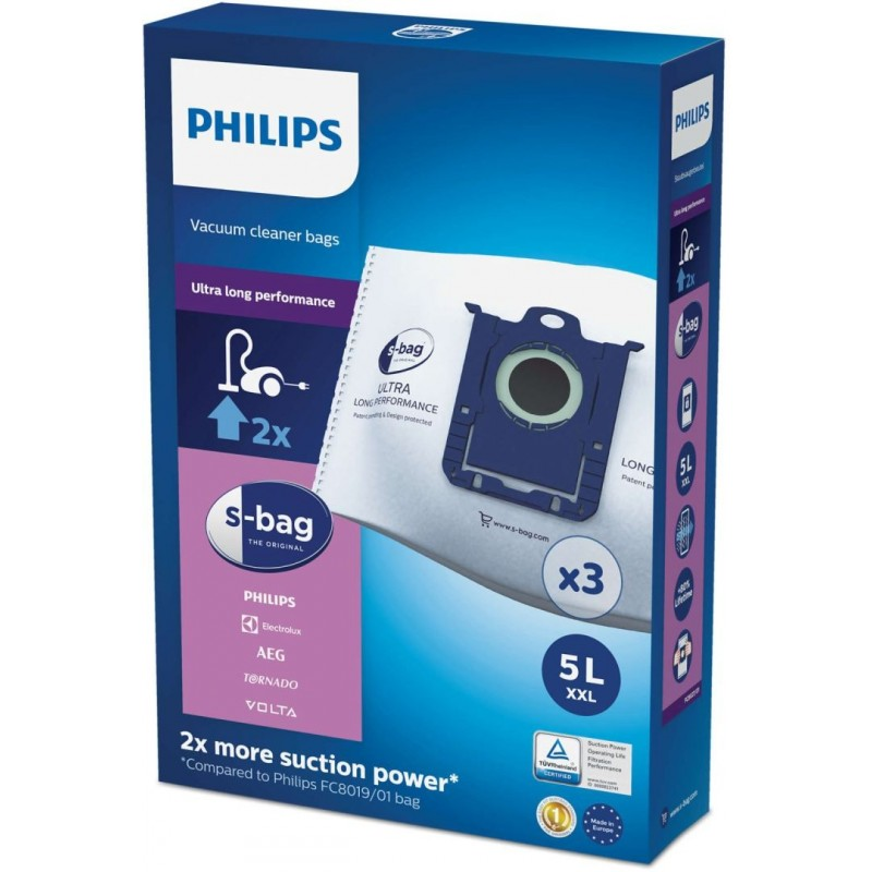 Philips S-Bag FC8027 - Stofzuigerzakken - Ultra Long Performance - 3 stuks - image #1