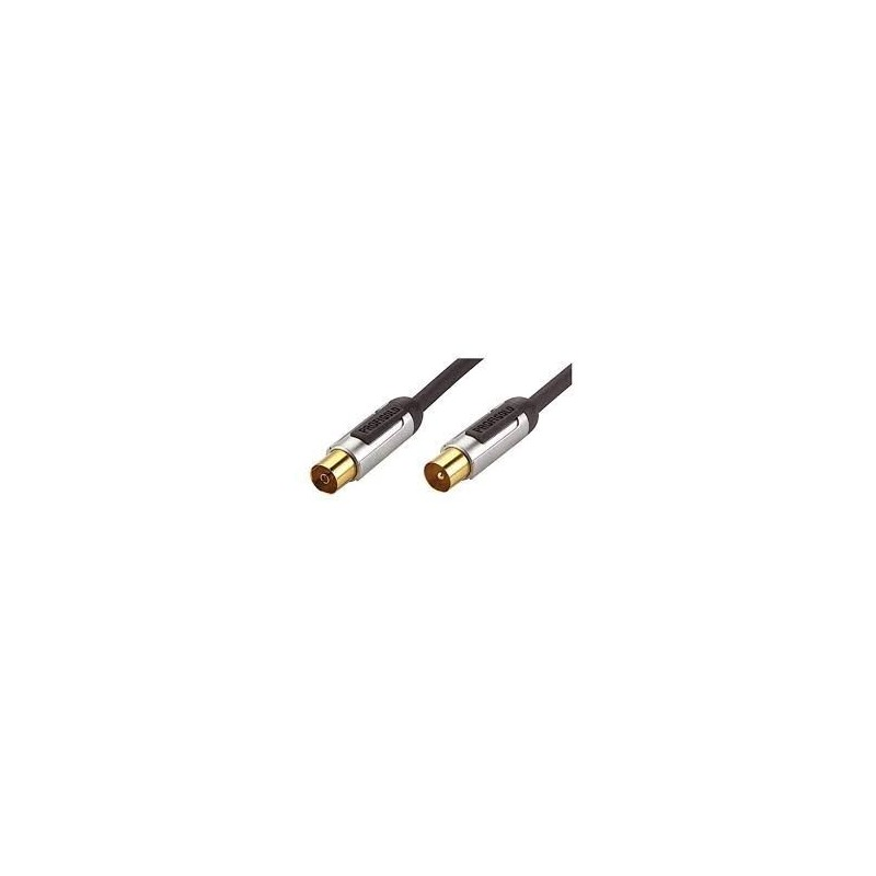 Coax Kabel - 2 meter - zwart - image #1