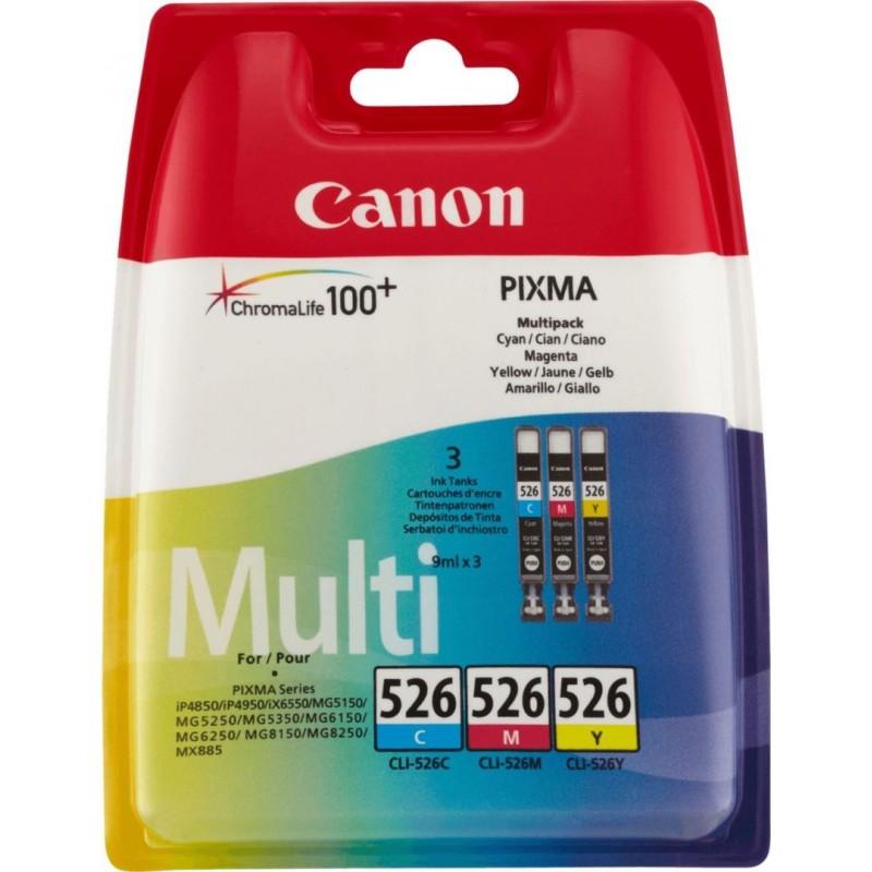 Canon CLI-526 Inktcartridge - Combipack - Cyaan, magenta, geel - image #1