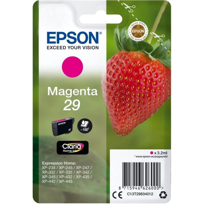 Epson 29 (T298340) Inktcartridge - Magenta - image #1