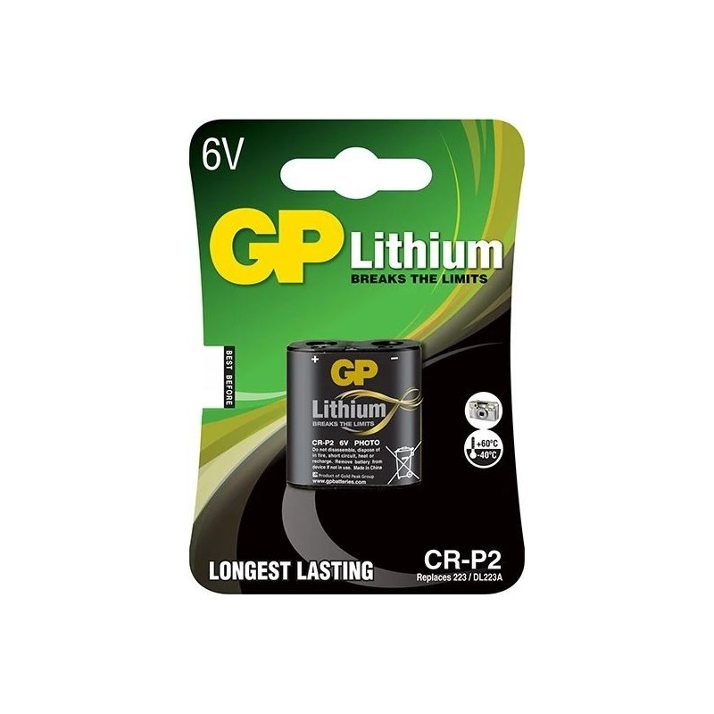 GP Lithium CRP2 / DL223A Batterij 6V - image #1
