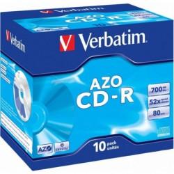 Verbatim CD-R AZO Crystal 10 stuks 700MB Jewelcase - image #1