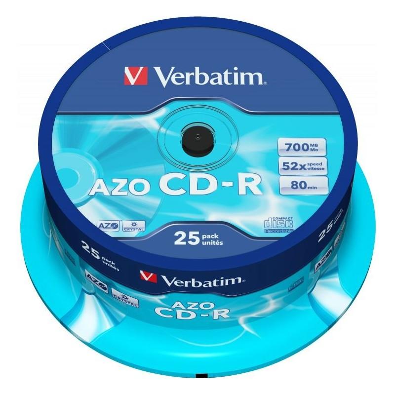 Verbatim CD-R AZO 25 stuks 700MB Spindle - image #1
