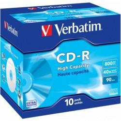 Verbatim CD-R High Capacity 10 stuks 800MB Jewelcase - image #1