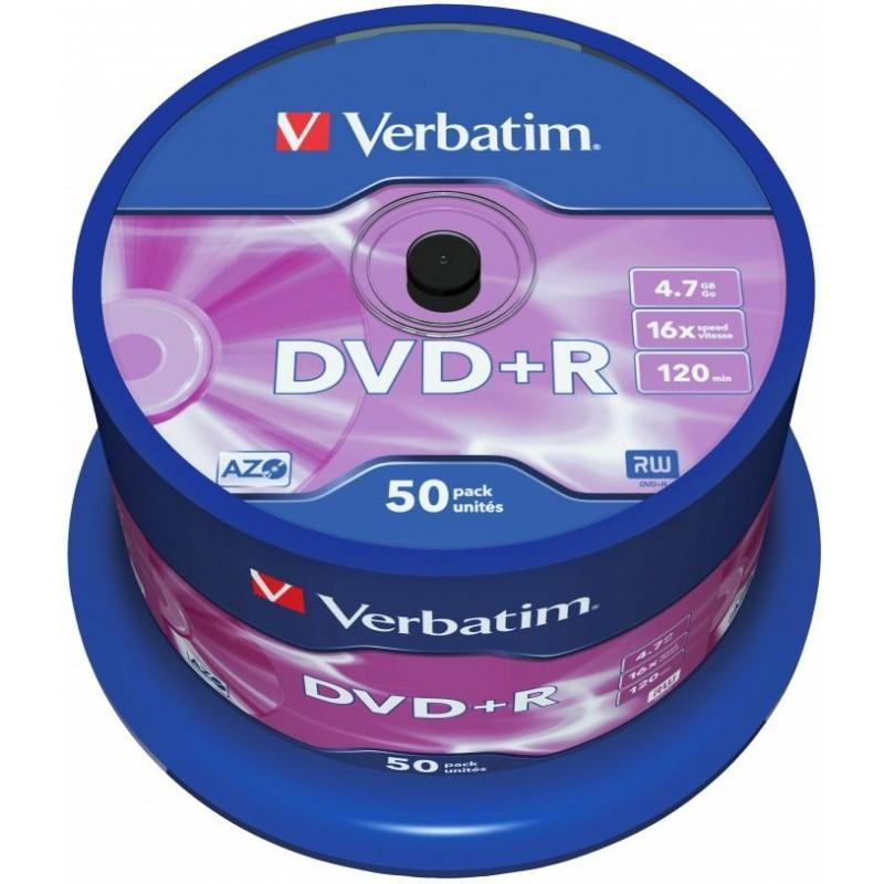 Verbatim DVD+R AZO 50 stuks 4.7GB Spindle - image #1