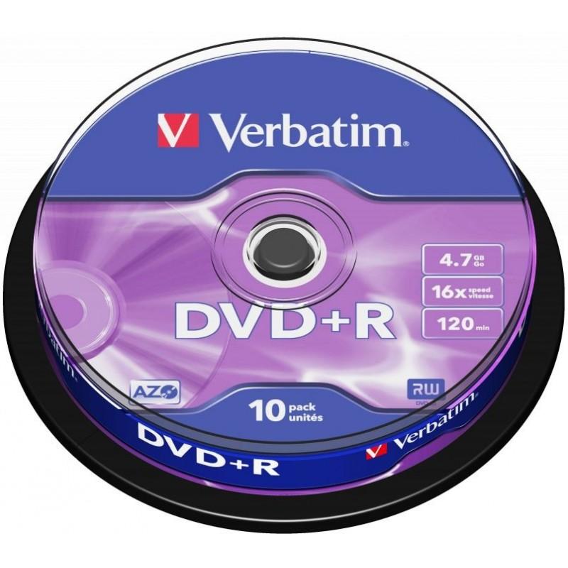 Verbatim DVD+R AZO 10 stuks 4.7GB Spindle - image #1