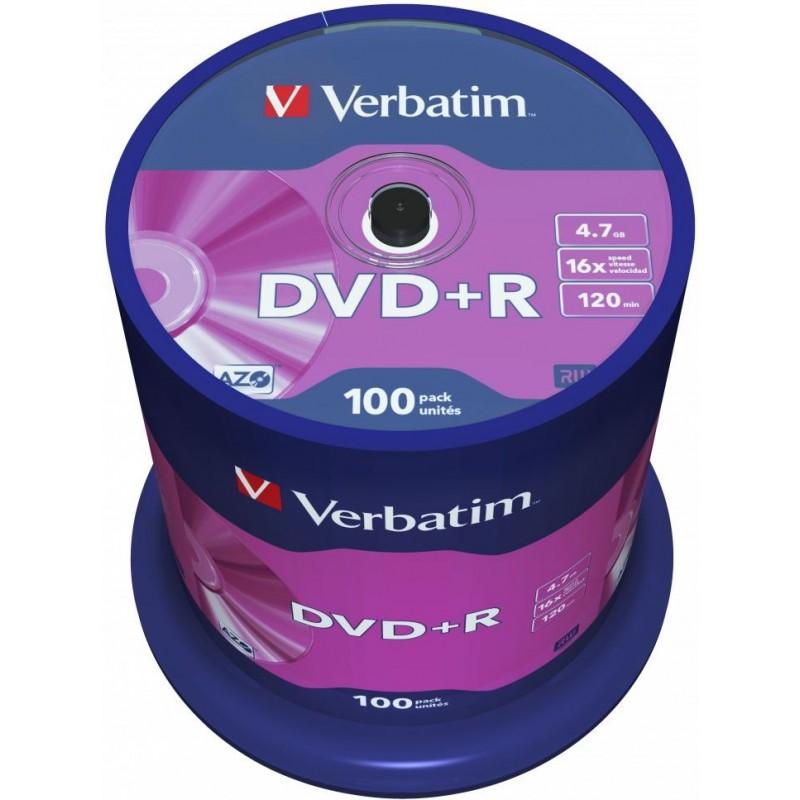 Verbatim DVD+R AZO 100 stuks 4.7GB Spindle - image #1