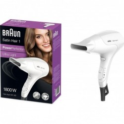 Braun Satin Hair 1 Föhn - 1800W - Wit - image #2