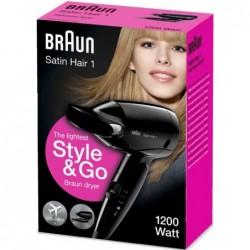 Braun Satin Hair 1 Föhn - 1200W - Zwart - image #3