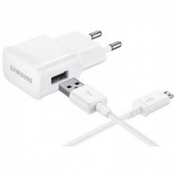Samsung Micro-USB Thuislader - Stekker met Oplaadkabel - 2A - wit - image #1