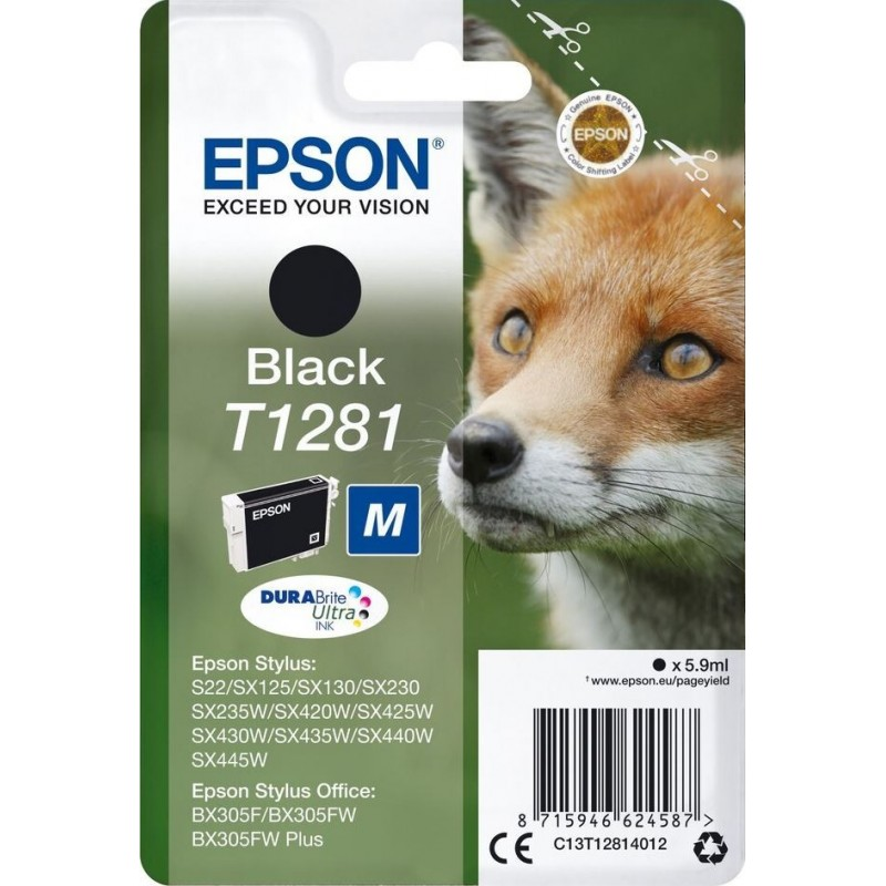 Epson T1281 Inktcartridge - Zwart - image #1