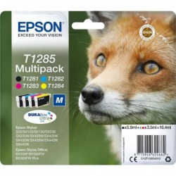 Epson T1285 Inktcartridge - Combipack - Zwart, cyaan, magenta, geel - image #1