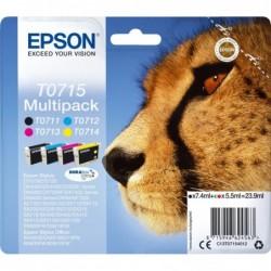 Epson T0715 Inktcartridge - Combipack - Zwart, cyaan, magenta, geel - image #1