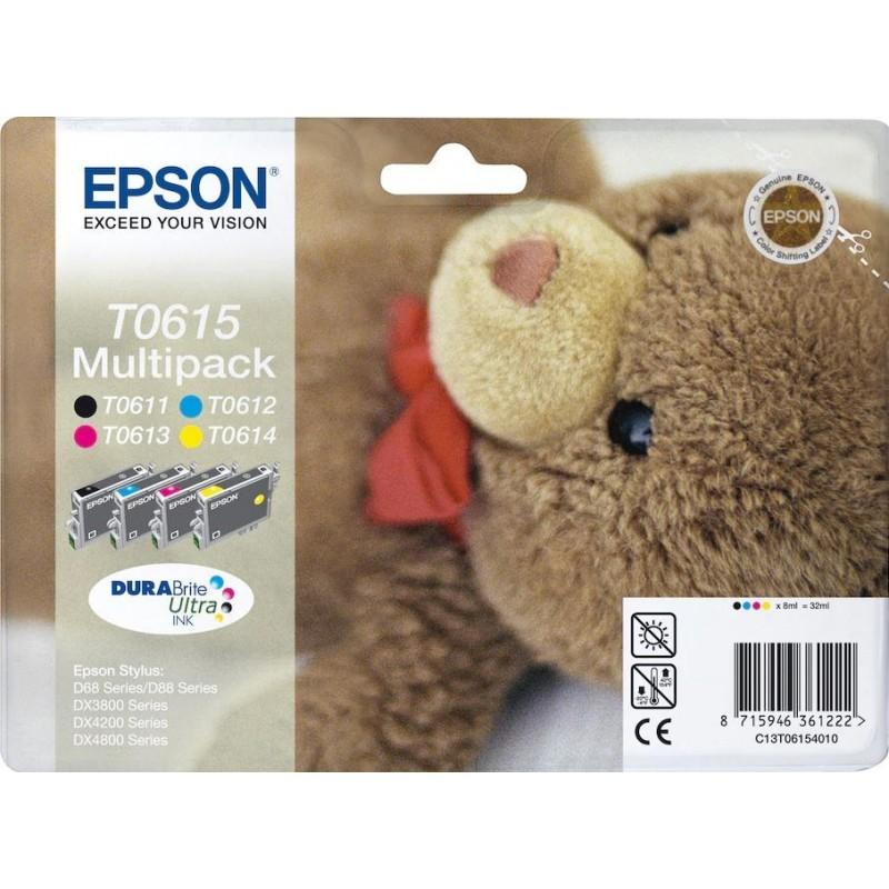 Epson T0615 Inktcartridge - Combipack - Zwart, cyaan, magenta, geel - image #1