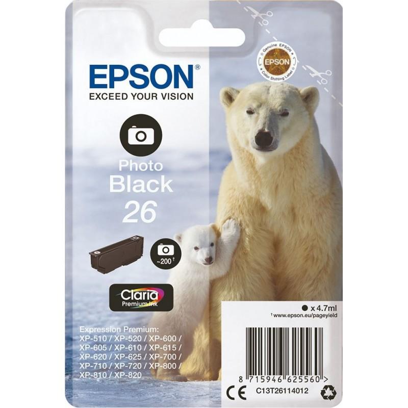 Epson 26 (T261140) Inktcartridge - Zwart foto - image #1