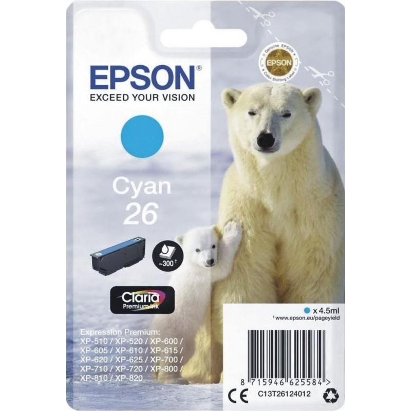 Epson 26 (T261240) Inktcartridge - Cyaan - image #1