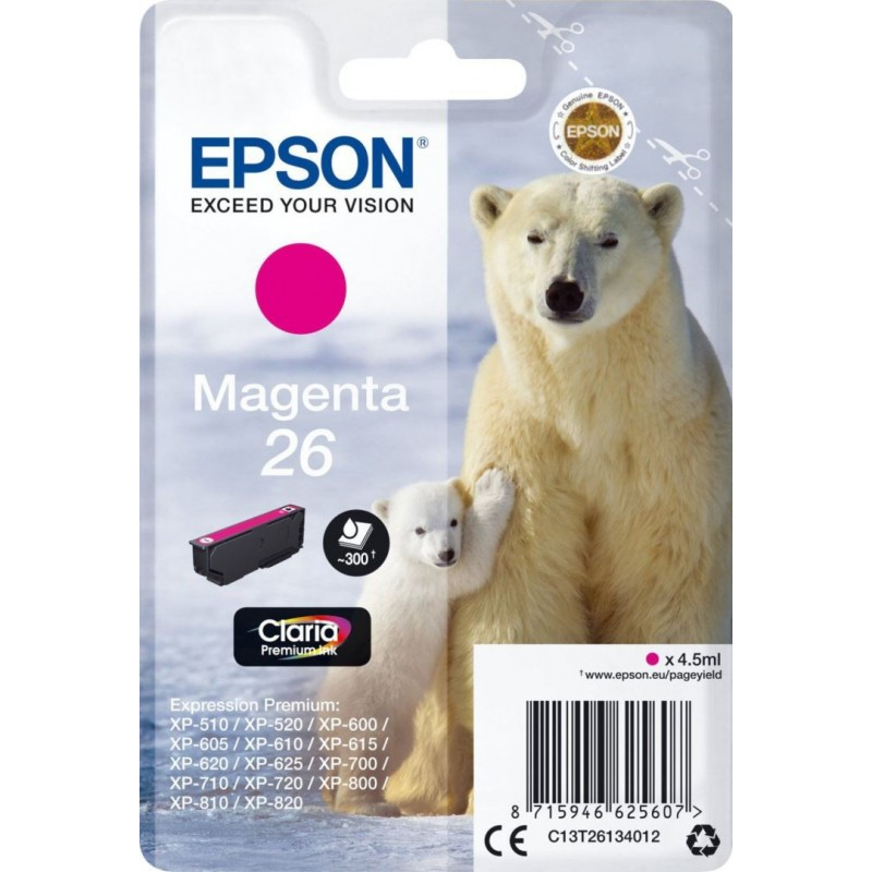 Epson 26 (T261340) Inktcartridge - Magenta - image #1