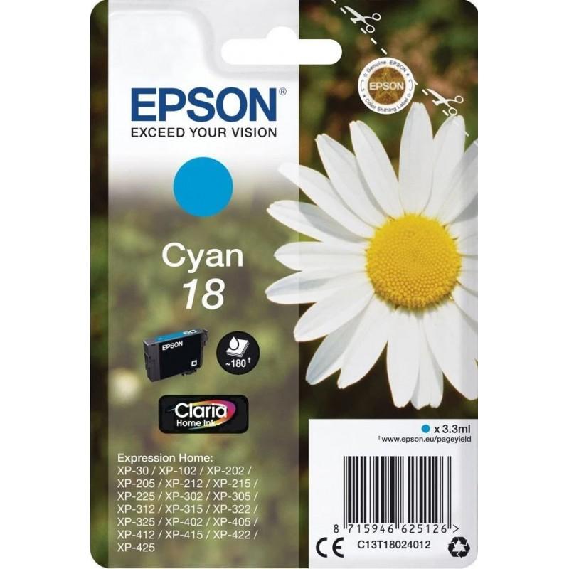 Epson 18 (T180240) Inktcartridge - Cyaan - image #1