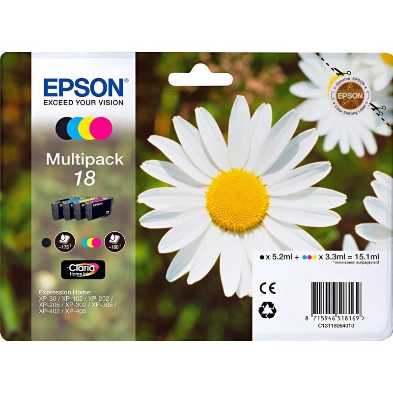 Epson 18 (T18) Inktcartridge - Combipack - Zwart, cyaan, magenta, geel - image #1