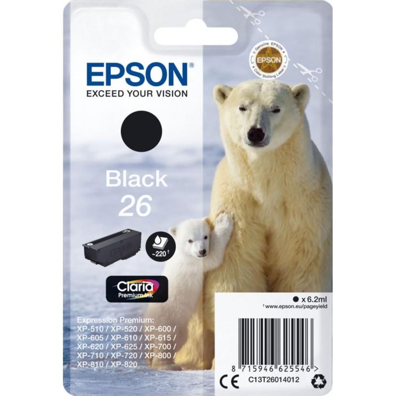 Epson 26 (T260140) Inktcartridge - Zwart - image #1