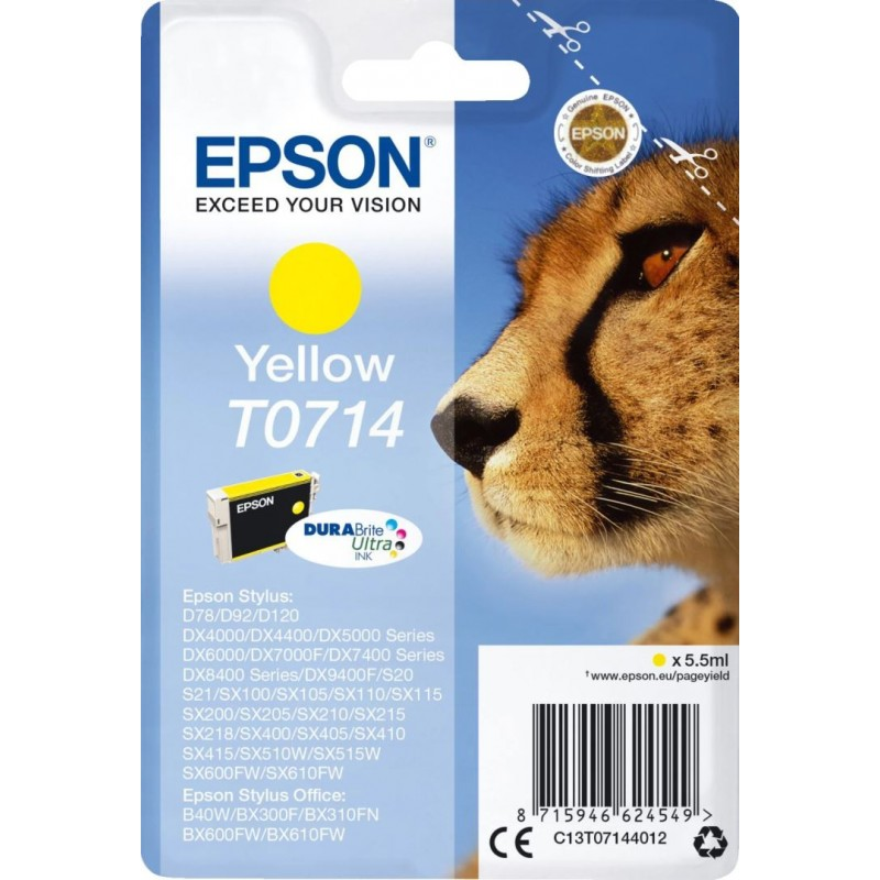 Epson T0714 Inktcartridge - Geel - image #1