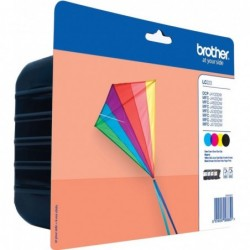 Brother LC223 Inktcartridge - Combipack - Zwart, cyaan, magenta, geel - image #1