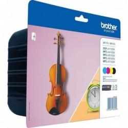 Brother LC127XL Inktcartridge - Combipack - Zwart, cyaan, magenta, geel - image #1