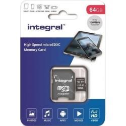 Integral Micro SD Kaart 64GB - incl. adapter - image #1