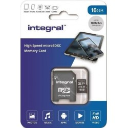 Integral Micro SD Kaart 16GB - incl. adapter - image #1