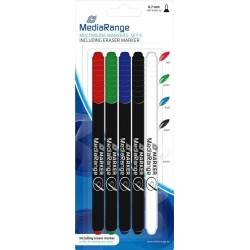 MediaRange CD/DVD/BD Marker - 4 stuks + Eraser - image #1