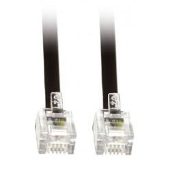 Telefoonkabel 1,5m - RJ11 Kabel - Zwart - image #1