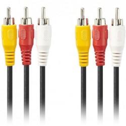 3x Tulp naar 3x Tulp Kabel - 2m - image #1
