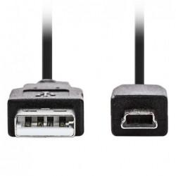 Mini USB Kabel - 2m - Zwart - image #1