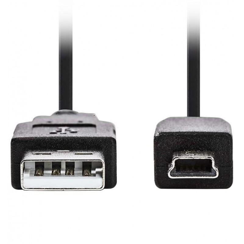 Mini USB Kabel - 1m -  Zwart - image #1
