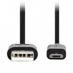 Micro USB Kabel - 3m - Zwart - image #1