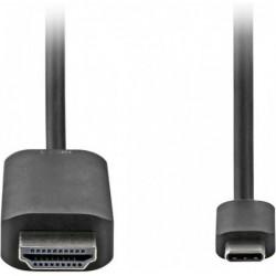 HDMI  naar USB-C Kabel - 1m - Zwart - image #1