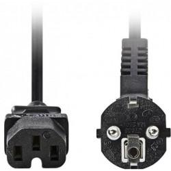 Apparaatsnoer C15 - 1m - Hittebestendige Kabel - Zwart - image #1