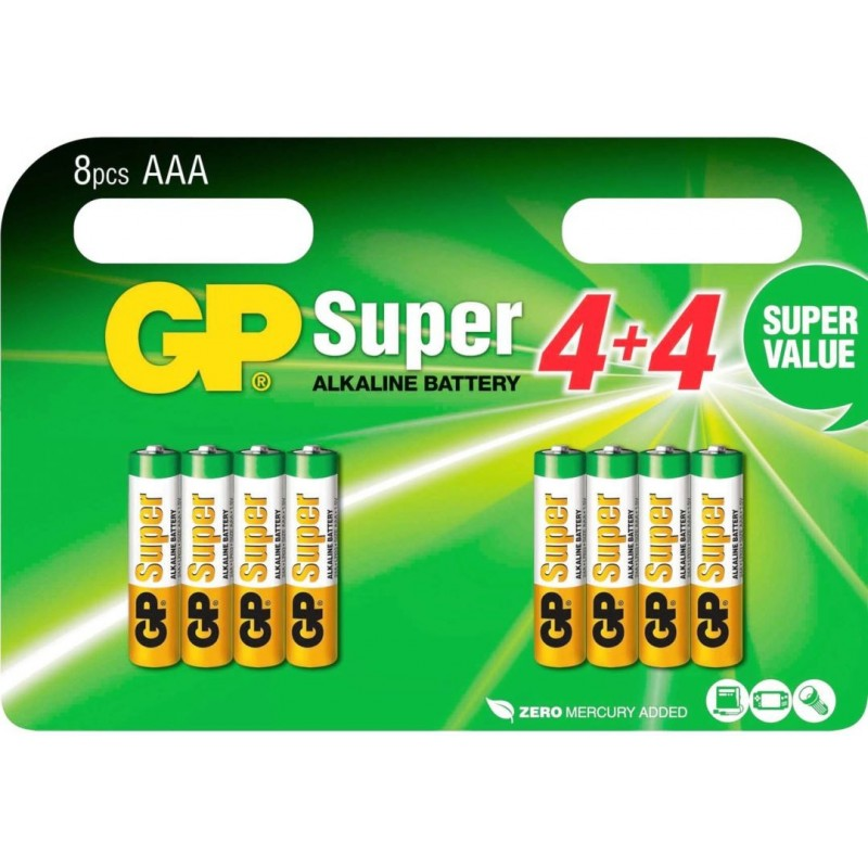 GP Super Alkaline AAA Batterijen A8 - image #1