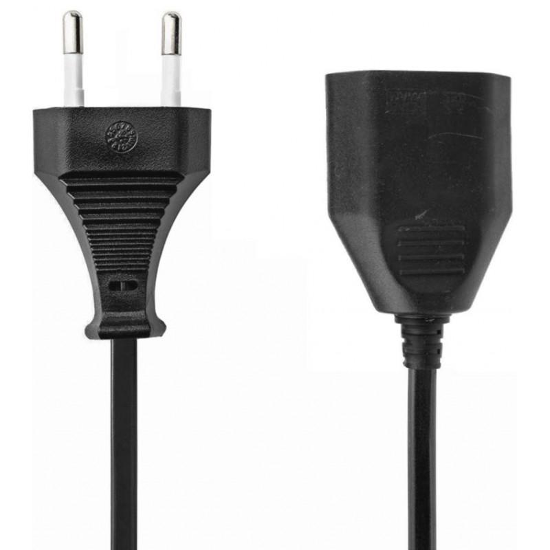 Verlengsnoer - 2m - 2x0.75mm - zwart - image #1