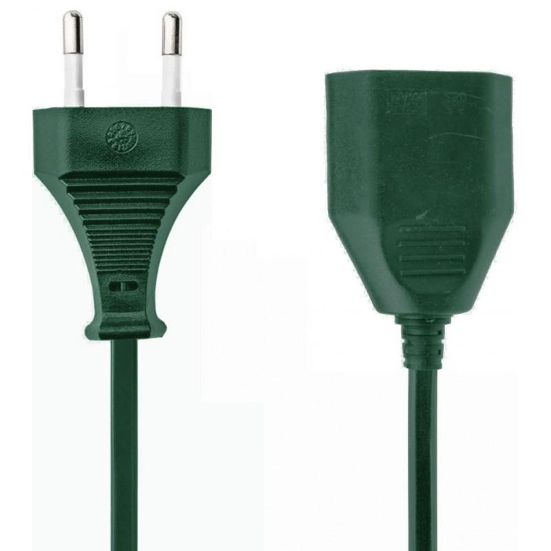 Verlengsnoer - 20m - 2x1.00mm - groen - image #1