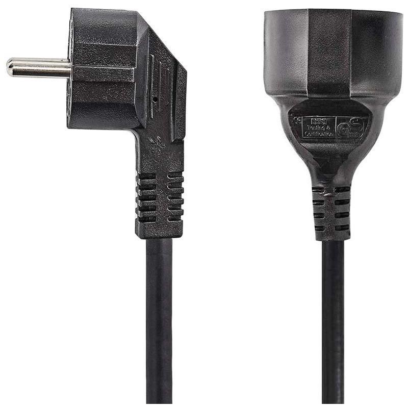 Verlengsnoer - 5m - 3x1.00mm - zwart - image #1