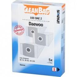 Cleanbag 100DAE2 Stofzuigerzakken - Geschikt voor Daewoo RC300 - 5 stuks + 2 filters - image #1